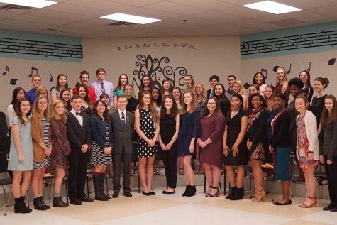 National Honor Society members inducted