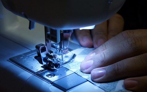 Behind the stitch
