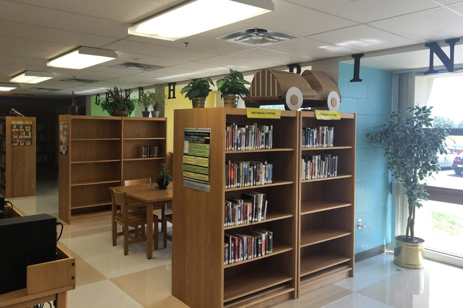 book sections in a library