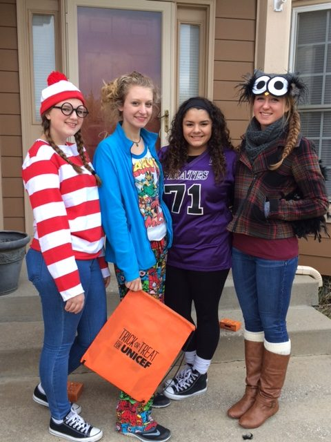 Change for charity: Students trick-or-treat for UNICEF