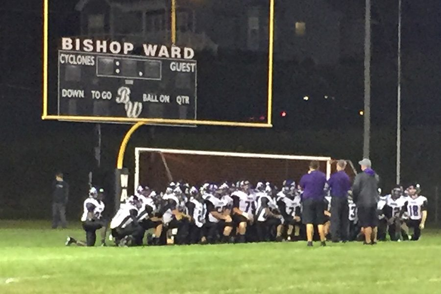 The Pirates meet after their 57-6 victory at Ward Oct. 7.