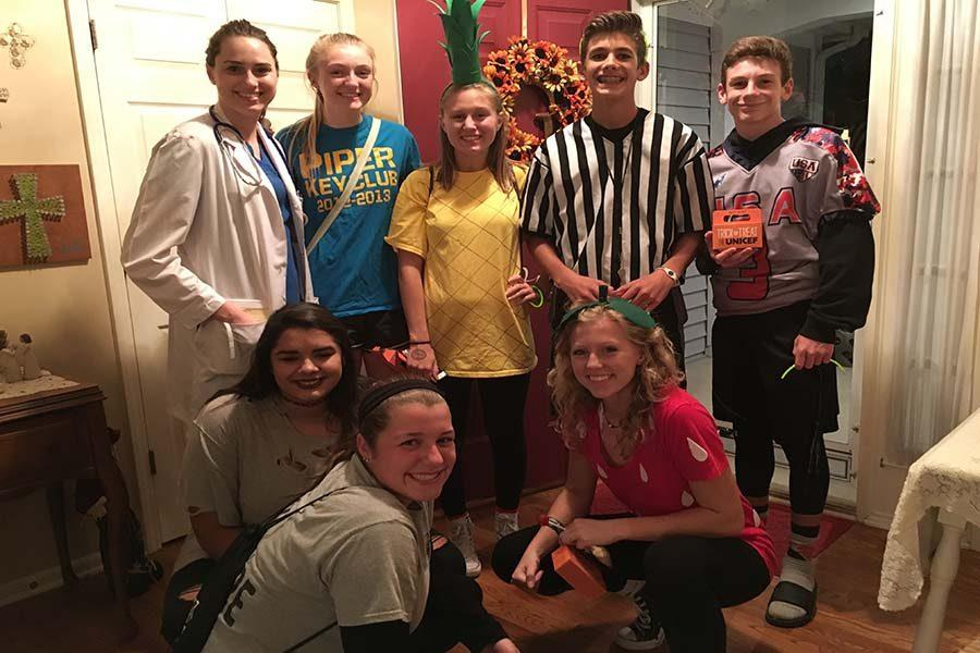 Students dress up in costumes to participate in the Trick-or-Treat for UNICEF event on Oct. 31.