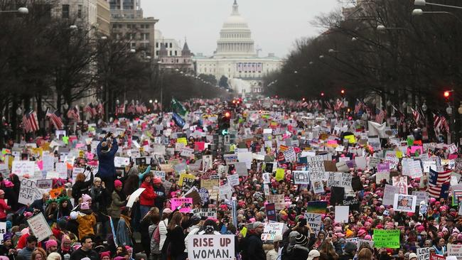 The women's march on January 21, 2017 led to a women's strike on International Women's Day March 8 to protest unequal pay.