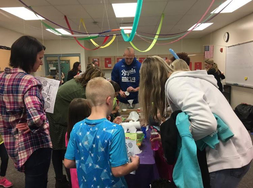 Due to the change in club meeting times during the school year, Key Club has experienced lower levels of participation at club events, including STEAM night at the elementary school.