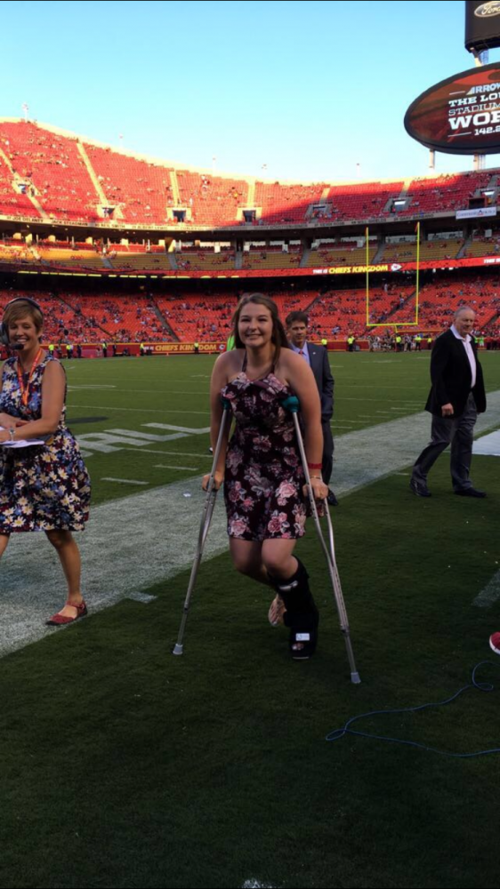 Sullivan is recognized at the Chiefs game Aug. 11.