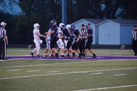 The Pirates football team wins against Ward.