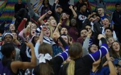 Students show school spirit at the courtwarming pep assembly