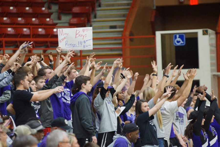 The Pirates student section showing their school spirit and support in full force.