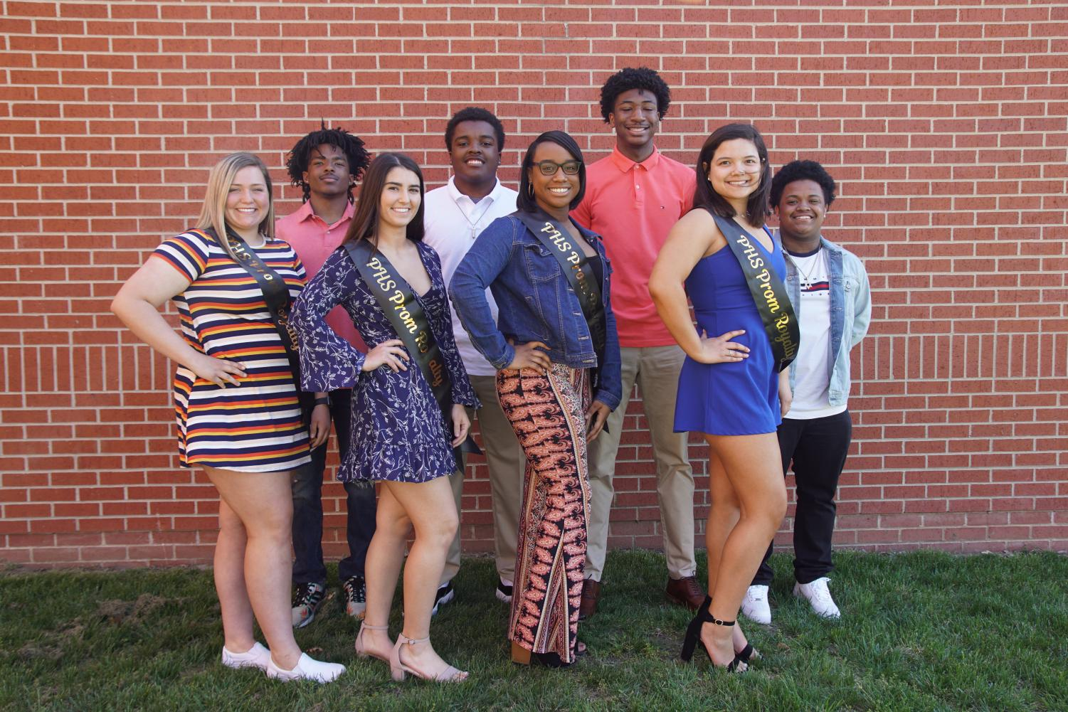 2019 prom candidates Back row (left to right): Devon Marshall, Brandon Walker, Brandan Jackson and Alonzo Wright Front row (left to right): Marilynn Buff, Hannah Pappert, Erika Ewell and Savannah Vazquez