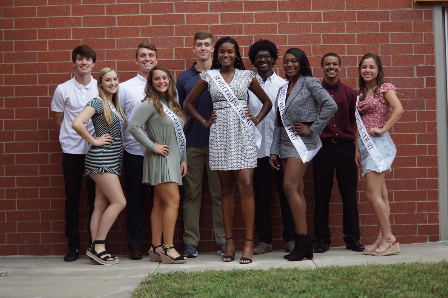 All the Homecoming 2019 Homecoming candidates pose for a group photo.