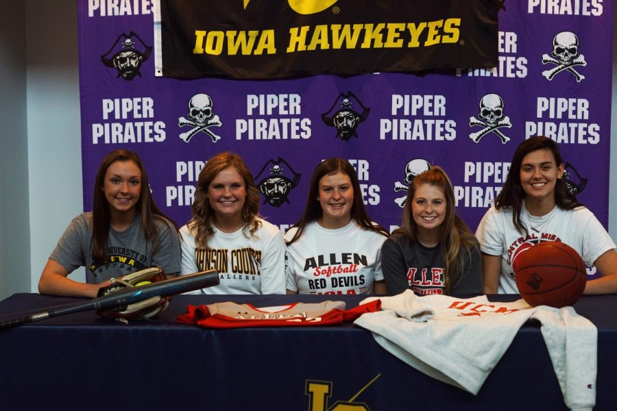 Five students sign for postsecondary athletics