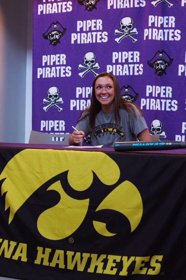 Senior Grace Banes will be playing shortstop for the University of Iowa.