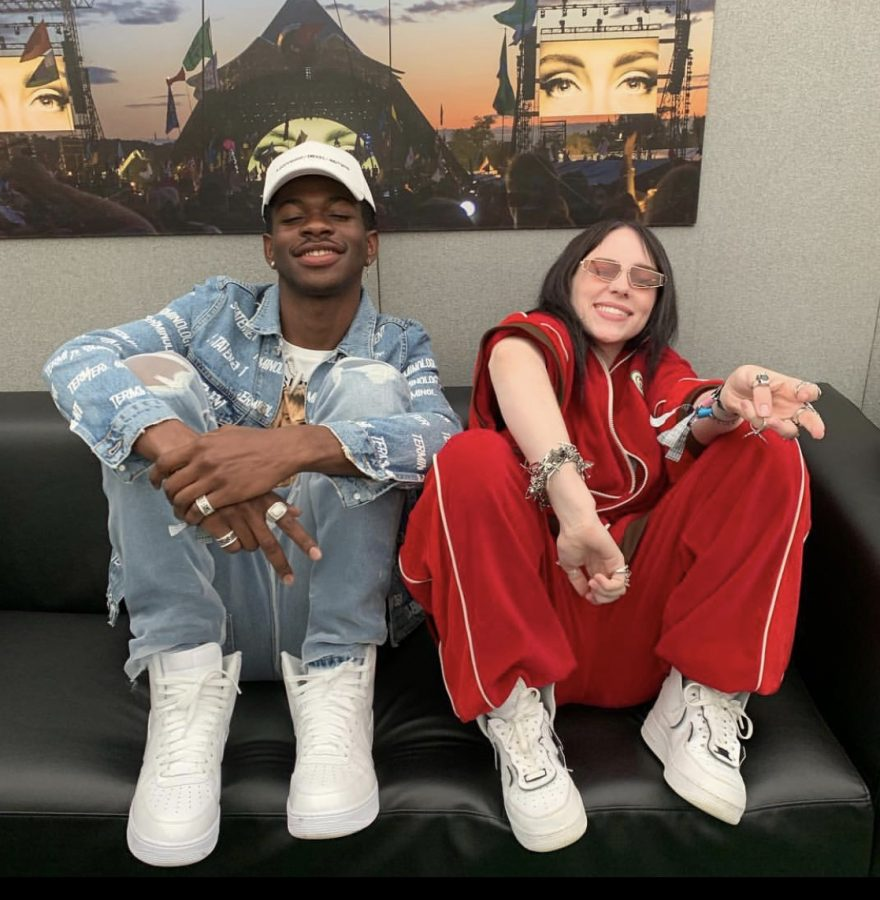 Lil+Nas+X+and+Billie+Eilish+spent+time+with+each+other+following+their+Grammy+nominations.