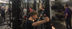 The Powerlifting team practices after school to prepare for a meet.