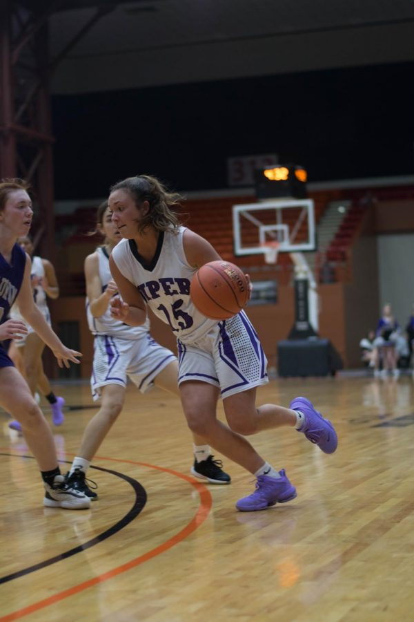 Senior Grace Banes drops 20 points against Baldwin in the first round of State.