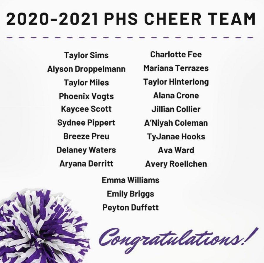 2020-2021 cheer team announced