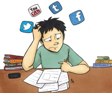 Social media distractions can cause students to become behind on schoolwork and unfocused on Zoom.