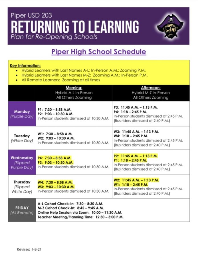 Back to the Building: New schedule increases in-person learning