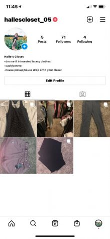 Freshman Halle Loomis sells her clothes on the Instagram account @hallescloset_05.