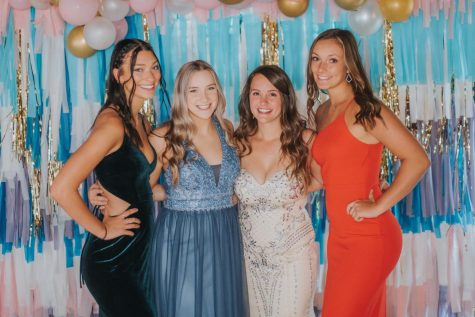 2020 seniors pose for a photo at prom in june. Project grad hosted a senior only prom last year but allowed outside guests. Photo Courtesy Morgan Haworth