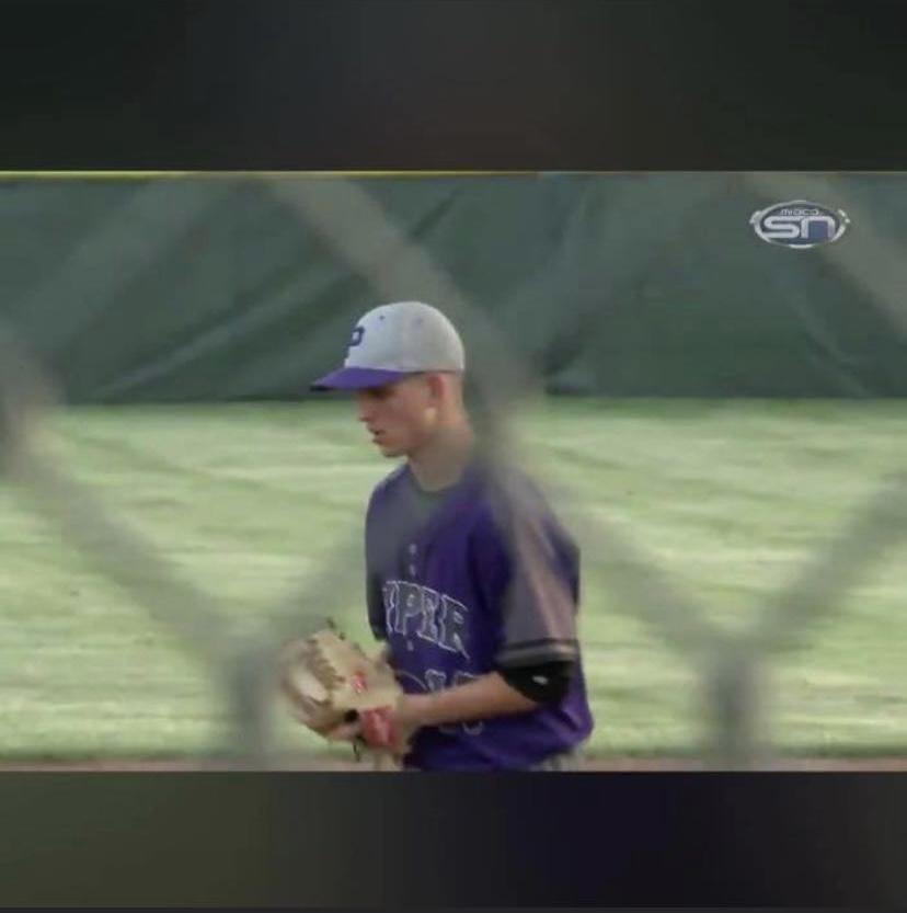 Senior Nate Golubski steps on the mound to throw a pitch. Photo courtesy from Nate Golubski.